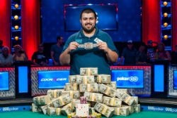 2017 World Series of Poker Main Event champion, Scott Blumstein