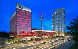 A rendering of the new Lucky Dragon, located near the north end of the Las Vegas Strip.