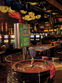 A roulette table at Casino of the Wind.