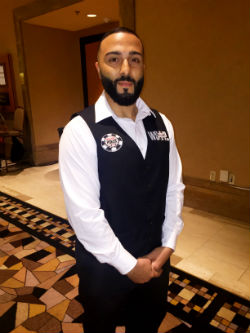 Ahmed Khater is one of five dealers the WSOP will use at the Main Event final table.