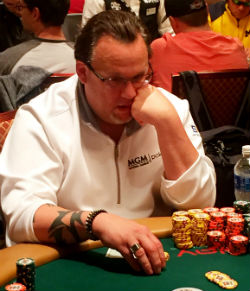Amateur Mickey Craft ended Day 4 at the WSOP Main Event in sixth place.