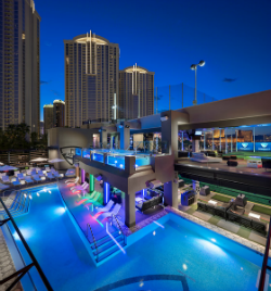 Topgolf Las Vegas is the only location of its kind to have swimming pools or gambling. (photo by Topgolf Las Vegas)
