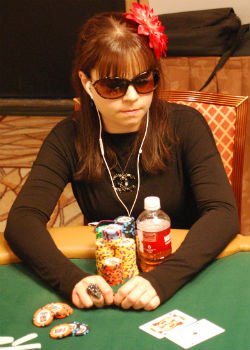Annette Obrestad charged into contention Tuesday at the WSOP Main Event.