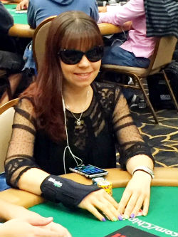 Annette Obrestad, pictured here playing in Day 2C of the WSOP Main Event, is enjoying life at and away from the poker table these days.