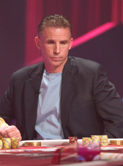 Anthony Curtis at the Ultimate Blackjack Tournament.