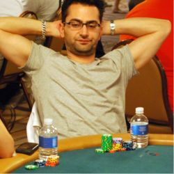 Antonio Esfandiari could not find any magic today and busted out of the Main Event.