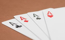 Avoid confrontation with the table chip leader.