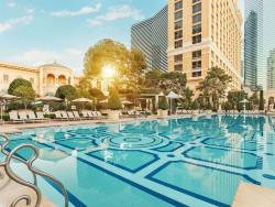 Bellagio offers five courtyard settings for guests to cool off at.