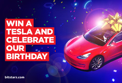BitStarz is getting ready to celebrate its sixth birthday with a Tesla giveaway.