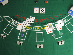 Blackjack allows you to make decisions and calculate the best approach.