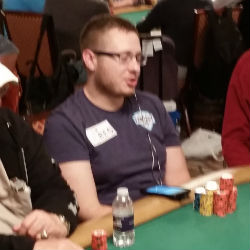 Brian Hastings, seeking his third WSOP bracelet in 2015, built a big stack on Day 2AB of the Main Event.