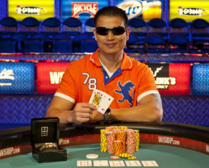 Chiab Saecao won his first WSOP bracelet in the Casino Employees Event on Monday.