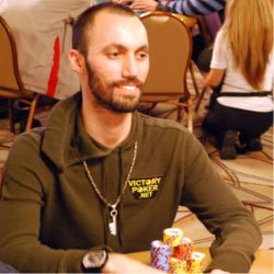 Dan Fleyshman rode the Main Event roller coaster at one of the tougher tables in the tournament.