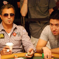 "David Haiman (right) said sitting next to Joe Hachem was a ""great experience."""