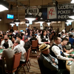 Day 1A of the 2015 World Series of Poker Main Event kicked off with all players in the Brasilia room at the Rio All-Suite Hotel & Casino.