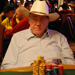 Doyle Brunson continued his remarkable run through the Main Event. He ended Day 3 with 620,000 in chips.