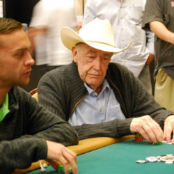 Doyle Brunson decided at the last second to play in this year