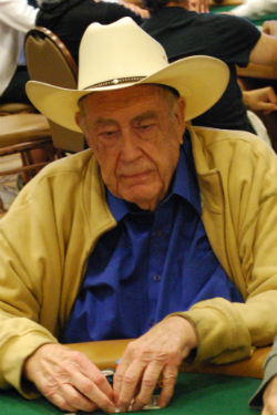 Doyle Brunson mowed down opponents on Tuesday.