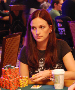 Elisabeth Hille is one of four women poised to make a run at the final table of the World Series of Poker Main Event.