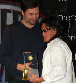 Fellow Poker Hall of Famer Phil Hellmuth introduced Scotty Nguyen on Sunday.