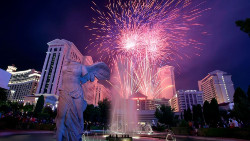 Fireworks at Caesars Palace.