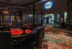 Foxwoods poker room.