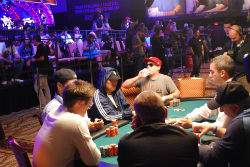 Friends and family descended on the World Series of Poker Main Event Sunday to cheer on their loved ones.