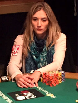 Gaelle Baumann was the last woman standing at the 2016 WSOP Main Event.
