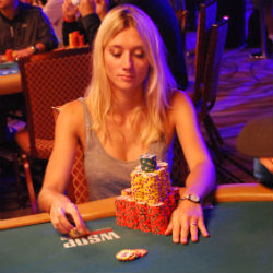 Gaelle Bauman is currently eighth in chips with 3.98 million.