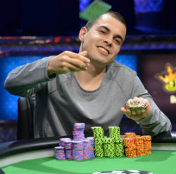 Garcia said he won four huge hands in the final three days with pocket fours.