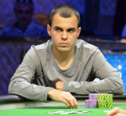 Garcia stares down McFarland during the final hand.