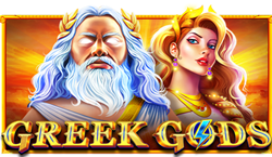 Greek Gods features a unique bar above the reels which randomly fills with a bonus pot, won by landing three lightning symbols stacked in one reel.