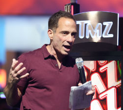Harvey Levin of TMZ fame was on hand at G2E in Las Vegas last week to demonstrate the network's new slot machine.