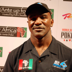 Holyfield will face a qualifier heads-up in London in September.