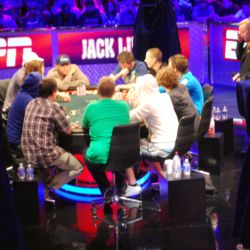 It took more than three hours for the Main Event to move from ten players to nine players.