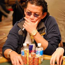 It was all over, baby, for Scotty Nguyen late on Day 5.