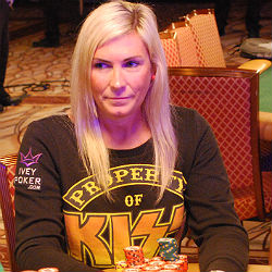 Jackie Glazer is the only woman still in the tournament. She has more than 4 million in chips.