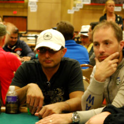 Jas flashes a look as if he's entered purgatory himself early on at the WSOP.