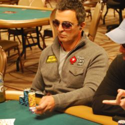 Joe Hachem sat at a brutal table on Day 2B.
