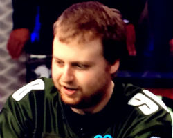 Joe McKeehen and his Philadelphia Eagles jersey are well on their way to winning a WSOP Main Event bracelet.