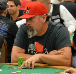 John Mason has a better-than-average chip stack heading into Day 2.