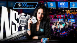 Kara Scott, official 888poker brand ambassador.