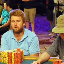 Lars Bonding always seems to have chips, and Saturday was no exception. He ended the day with 3.352 million.