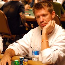 Layne Flack during one of the few quiet moments he had on Day 2B.
