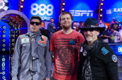 Many were surprised to see Josh Beckley (left) and Neil Blumenfield (right) still standing on Tuesday night entering three-handed play at the WSOP Main Event final table.