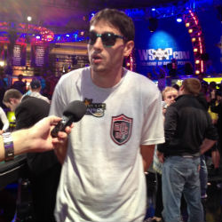 Mark Newhouse made his second straight WSOP Main Event final table on Monday night and heads to the November Nine third in chips.