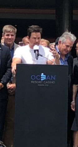 Mark Wahlberg in attendance at the ceremonial ribbon cutting