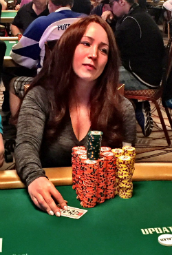 Melanie Weisner gained the chip lead at the end of day four.
