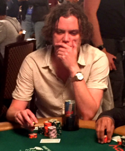 Michael Ruane has a little over 9 million in chips.