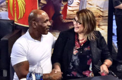 Mike Tyson's appearance at the Inspired Gaming booth drew a huge crowd at G2E.